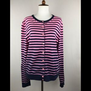 Lilly Pulitzer Sweater Large navy pink striped